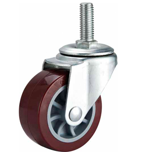 Light Duty Polyurethane Caster Swivel Threaded Stem
